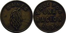 Kuba / Cuba, Münze, Token, Plantagentoken, Zahlmarke, Marke, Moneda, Coin Aus Banes/ Kuba, 1888, Sehr Rar!!! - Cuba