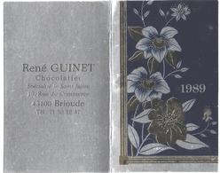 43 - BRIOUDE - PETIT CALENDRIER - 1989 - Chocolatier - R. GUINET - Calendars
