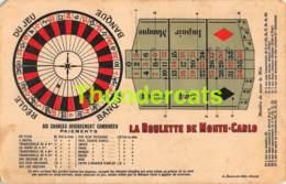 CPA LA ROULETTE DE MONTE CARLO MONACO ( MANQUE ANGLE ) - Casino