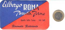 ETIQUETA DE HOTEL  -ALBERGO PORRETTA TERME  -ROMA  -ITALIA - Hotel Labels