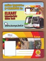 AC - BUS, TRAM MULTIPLE RIDE PLASTIC CARD KONYA, TURKEY PUBLIC TRANSPORTATION - Transportation Tickets