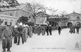 CPA Du Tonkin - Hanoï. Entrée De L'Hôpital. Ed. Dieulefils, N° 156. Non Circulée. Tb état - Vietnam