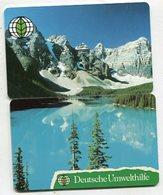 TK 04301 GERMANY - Chip O171+O172 03.93 Deutsche Umwelthilfe 12 500 Ex. - 2 Cards Puzzle - Allemagne