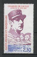 SPM MIQUELON 1990 N° 521 ** Neuf MNH Superbe C 1,25 € Célébrités Celebrities  Charles De Gaulle Général Marins FNFL - St.Pierre Et Miquelon