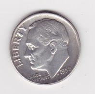 United States, 10c Roosevelt Dime, 1958-D, Denver - Émissions Fédérales
