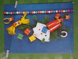 Kov 8-20 - New Year, Bonne Annee, Playing Cards, Cartes à Jouer, Champignon, Mushroom, Fer à Cheval, Horseshoe - Año Nuevo