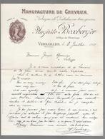 Manufacture De Cheveux -  Fabrique  De Postiches En Tous Genres  Auguste Boxberger Versailles 1911 - Profumeria & Drogheria