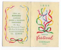 42 - SAINT ETIENNE - PETIT CALENDRIER PARFUME   -  1955  -  N'est Plus Parfumé  - - Calendriers