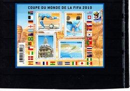 Blocs & Feuillets N° F4481 **--Coupe Du Monde FIFA 2010--2010-- Timbres N° 4481 à 4484 - Blocs & Feuillets