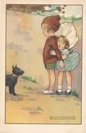 ENFANTS ET PETIT CHIEN  ( ILLUSTRATEUR AGNES RICHARDSON ) - Illustrateurs & Photographes