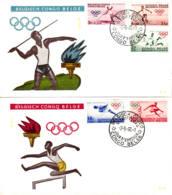 CONGO BELGE - 1960 - Lot De 2 FDC - Jeux Olympiques - 1947-60: Lettres