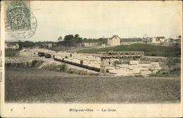 Cp Méry Val-d'Oise, La Grue - Frankreich