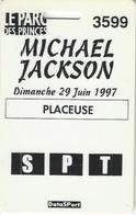 Carte De Concert De Mickael Jachson Le 29 Juin 1997 Au Parc Des Princes - Concerttickets