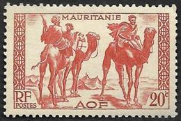 MAURITANIE  1938 -  Y&T  79   - Meharistes  -  Neuf Avec Adhérences - Oblitérés