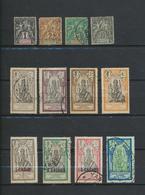 Inde établissement  Lot  De 12 Timbres - Used Stamps