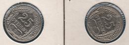 DEUTSCHES REICH LOT 2 X 25 PFENNIG 1910 F + 1912 D  KM# 18 - [ 2] 1871-1918 : Empire Allemand