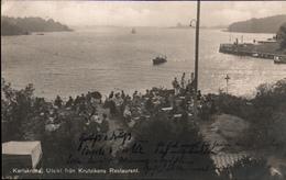 ! Alte Ansichtskarte Aus Karlskrona, Krutvikens Restaurant, Nachporto, Schweden, Hamburg - Schweden
