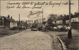 Cp Beauval Somme, Rue De Haut, Straßenwalze - France
