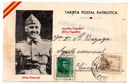 Tarjeta Postal Con Matasellos Censura Militar Montanchez. - 1931-50 Brieven