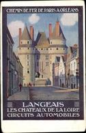 Artiste Cp Langeais Indre Et Loire, Les Chateaux De La Loire, Chemin De Fer De Paris à Orléans - France