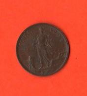 1 Centesimo 1909 Donna Su Prora Re Vittorio Emanuele III° Regno D'Italia - 1861-1946 : Regno