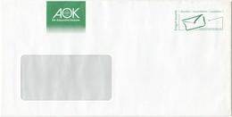 Db096 - Germany (FRG) Wvd - Postservice, Brief Entgelt Bezahlt, AOK Die Gesundheitskasse - [7] República Federal