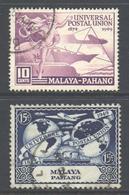 Malaya Pahang Scott 46/47 - SG49/50, 1949 UPU 10c 15c Used - Pahang