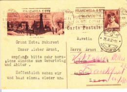 ROUMANIE - 1932 - Entier Postal Pour La Suisse - Les Sondes De Moreni - Pétrole - Derricks - Ganzsachen