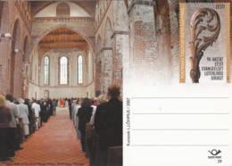 ESTONIE - 2007 - Entier Postal Neuf - Église évangélique Luthérienne D'Estonie - 90 Ans - Estonie