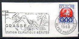 FRANCE. Flamme Sur Fragment Ayant Circulé En 1968. Parfums De Grasse. - Marcofilia (Sellos Separados)
