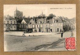 CPA - MONTBAZON (37) - Aspect De La Roulotte De Colporteur Sur La Place Du Bourg En 1907 - Montbazon
