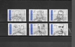 2681 2682 2683 2684 2685 2686  OBL Y & T Personnages Célèbres Poètes  15/18 - Used Stamps