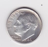 United States, 10c Roosevelt Dime, 1961-D, Denver - 1946-...: Roosevelt