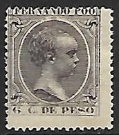 Fernando Poo  1896   Sc#16  6c King MH  2016 Scott Value $13 - Fernando Poo