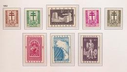 1952   8 ZEGELS POSTFRIS MET SCHARNIER - Belgique