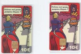 Lot De 2 Cartes De Stationnement Paris - Firemen