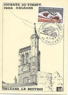 1477 -JOURNEE DU TIMBRE 1966 Sur Carte Locale ORLÉANS Au 3-3-66 - FDC