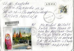 Lettre De Vladivostock , Extrème-Orient Russe, Adressée Andorra, Avec Timbre à Date Arrivée - 1992-.... Federazione