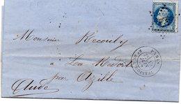 Paris - LAC Affranchie N° 29B Obl Etoile 33 - Càd Bt De L'Hôpital - Marcophilie (Lettres)