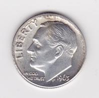 United States, 10c Roosevelt Dime, 1963-D, Denver - 1946-...: Roosevelt