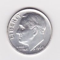 United States, 10c Roosevelt Dime, 1964, Philadelphia - 1946-...: Roosevelt