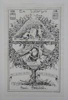 Ex-libris Illustré Français XXème - Paul Petitot - Le Pommier Généalogique - Ex-libris