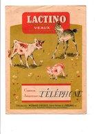 PROTEGE CAHIER LACTINO ALIMENT POUR VEAUX - MENARD FRERES TOUARS DEUX SEVRES - Book Covers