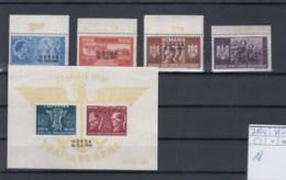 Rumänien (KK) Michel Cat.No. Mnh/** 712/715 + Sheet 18 - 1918-1948 Ferdinand I., Charles II & Michel
