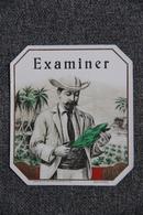 """Etiquette - Tabac """" EXAMINER """". - Etiketten"""