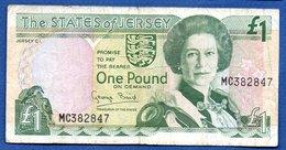 Jersey  - 1 Pound  -- Pick # 15  -  état  TB - Jersey