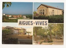 ( 30 ) AIGUES VIVES Multivues La Cave Viticole Le Jardin  La Ville - Aigues-Vives