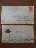 1952 Spire / Speyer- 9 ème Régiment Du Génie, TAD Poste Aux Armées, TP Franchise Militaire, Bedeau Boulogne Billancourt - Marcophilie (Lettres)