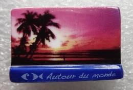 """Feve Série Autour Du Monde """" Carte Postale THALASSA Palmier Rose """" Poisson Mer - Fèves"""