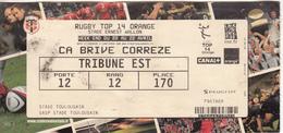 Billet STADE TOULOUSAIN -  CA BRIVE CORREZE - Rugby